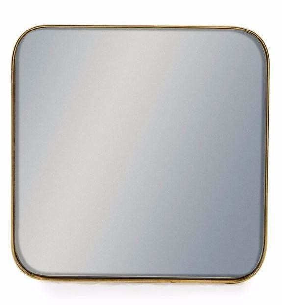 Aldrich Medium Gold Square Wall Mirror - Mirror