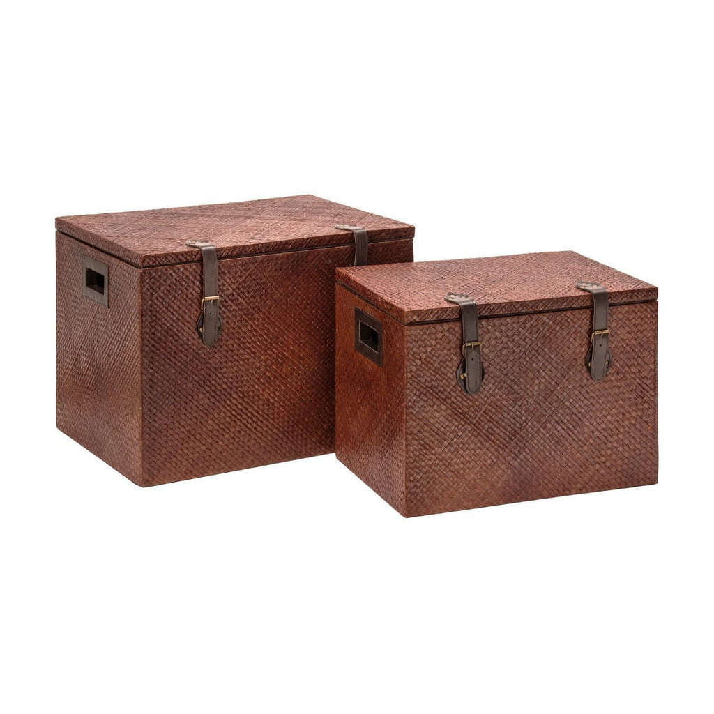 Anthologised Set of 2 storage trunks - Box Trunks