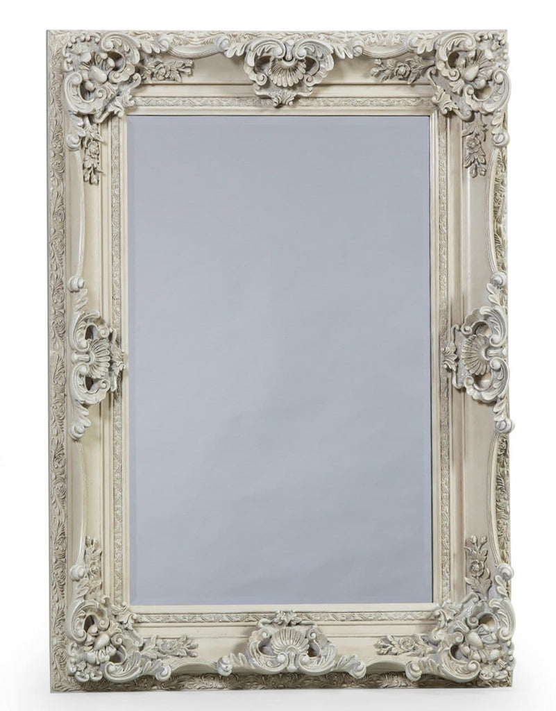 Antique White Small Regal Mirror - Mirror