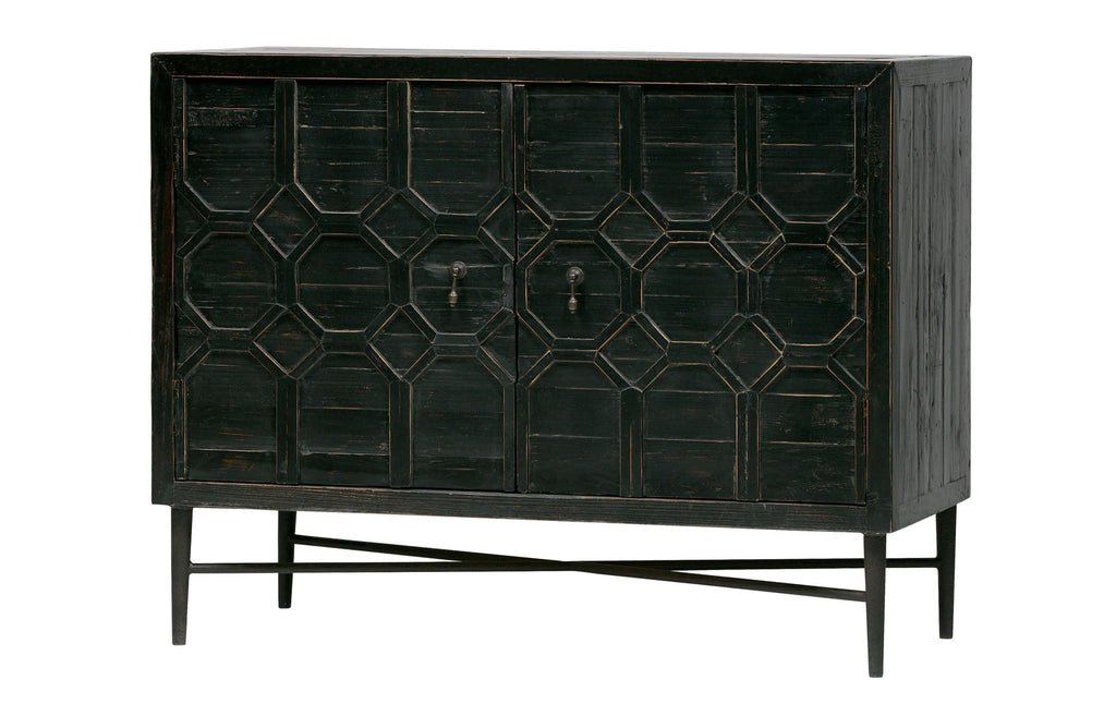 Bequest Black Wood 2 Doors Cabinet By BePureHome - Storage Cabinet