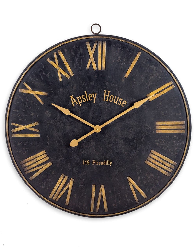 Black and Gold Iron Wall Clock - Clock