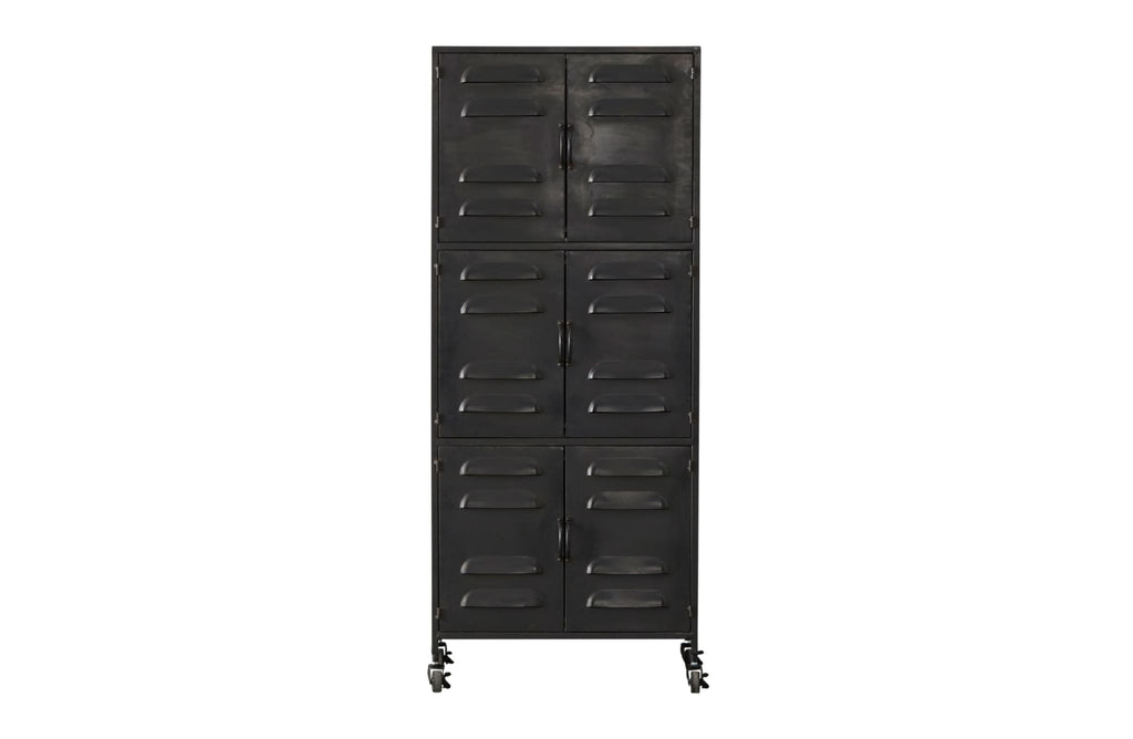 Boaz Black Metal Cabinet by Woood - Storage Cabinet