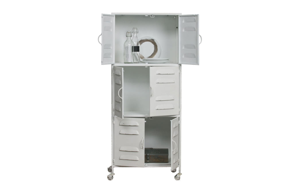 Boaz White Metal Cabinet by Woood - Storage Cabinet