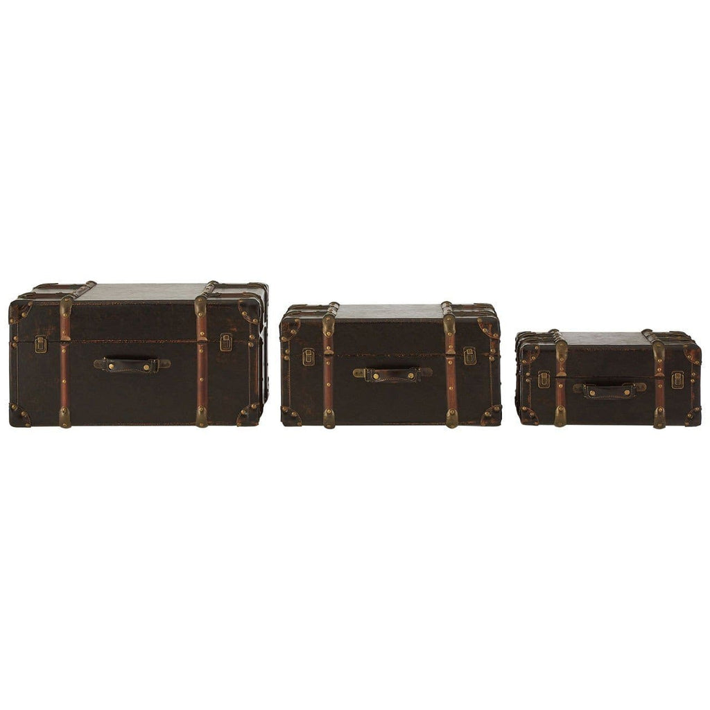 Bogart Brown Storage Cases - Box Trunks