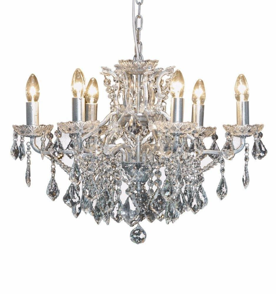 Camile - Silver Six Branch Chandelier - Chandelier