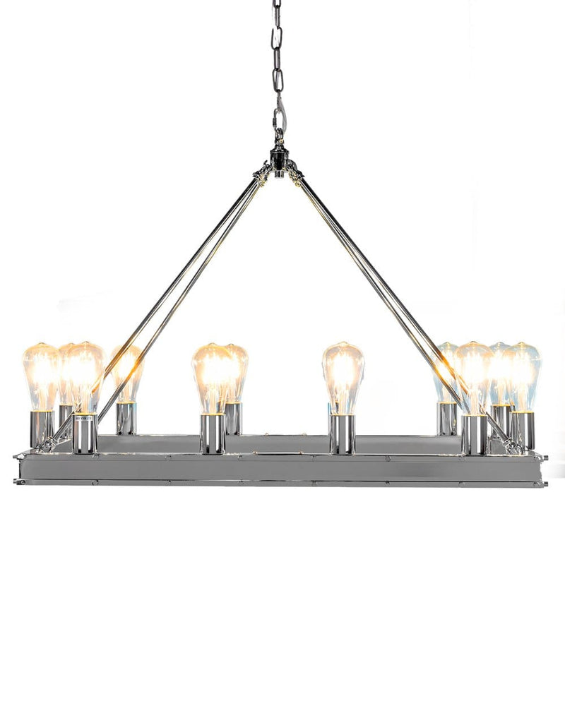 Chrome Rectangular Gallery Chandelier - Chandelier