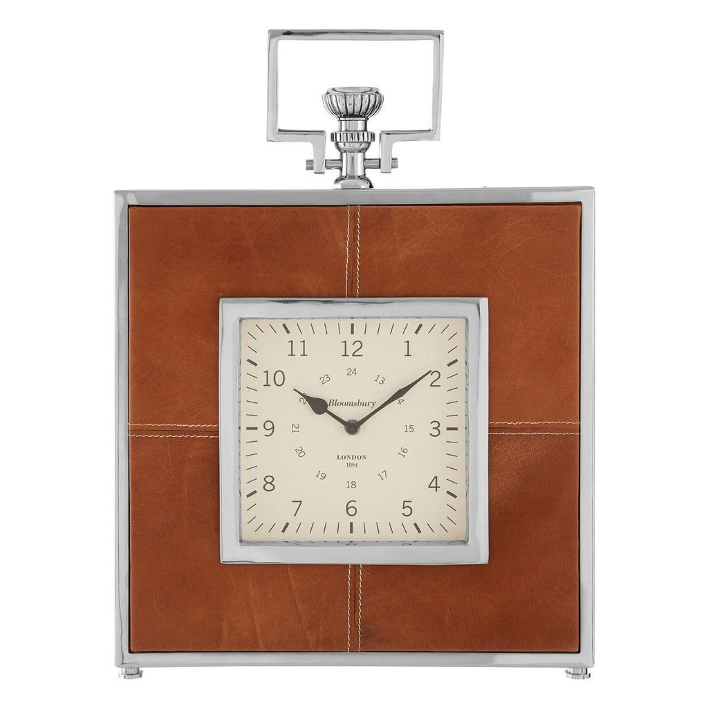 Churchill Leather Regal Mantel Clock - Clock