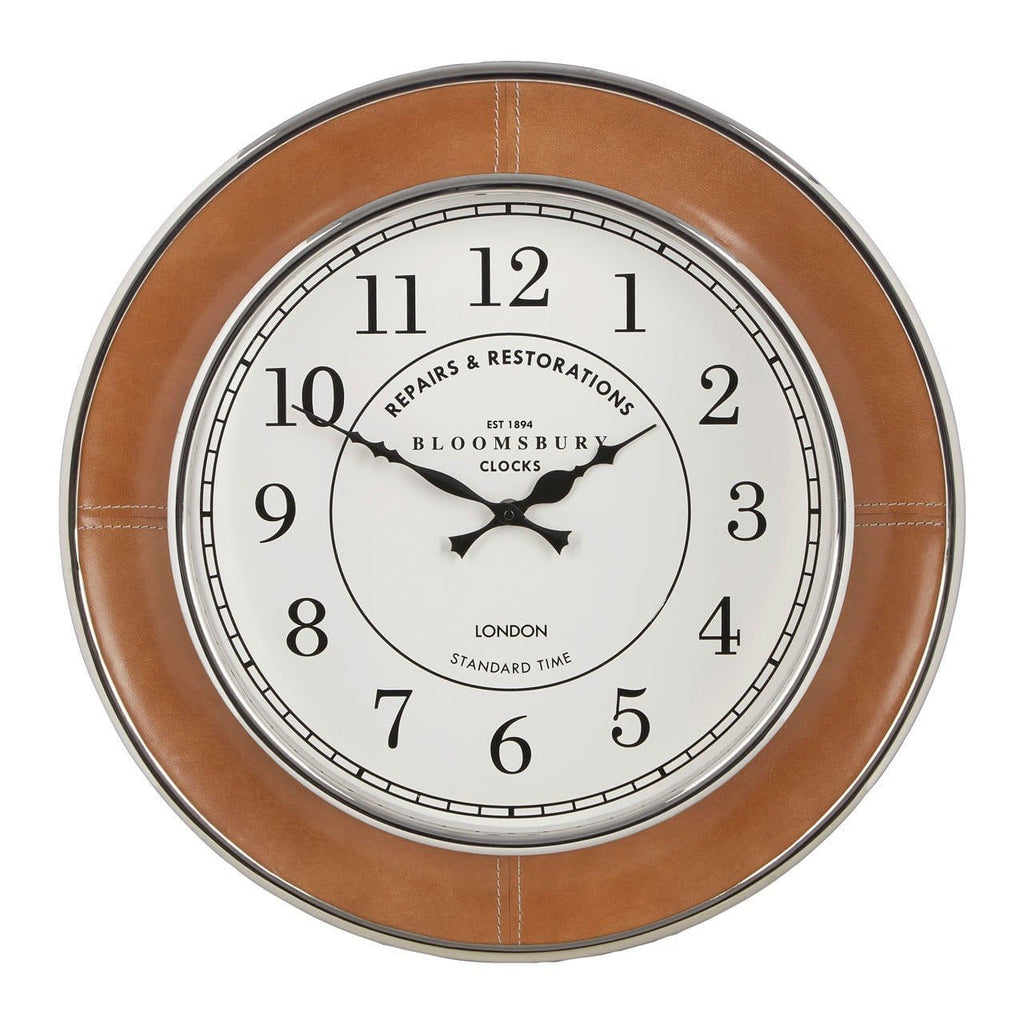 Churchill Leather Regal Wall Clock - Clock