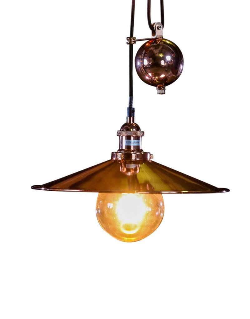 Copper Metal Rise and Fall Coolie Pendant - Pendant Light