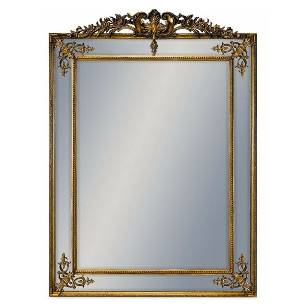 Extra Large Gold Crested Leaner Mirror - Mirror