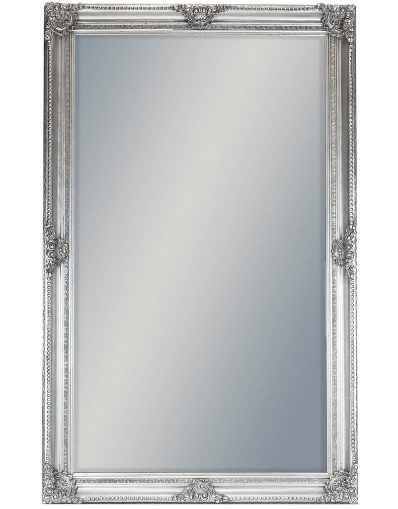 Extra Large Silver Rectangular Classic Mirror - Mirror