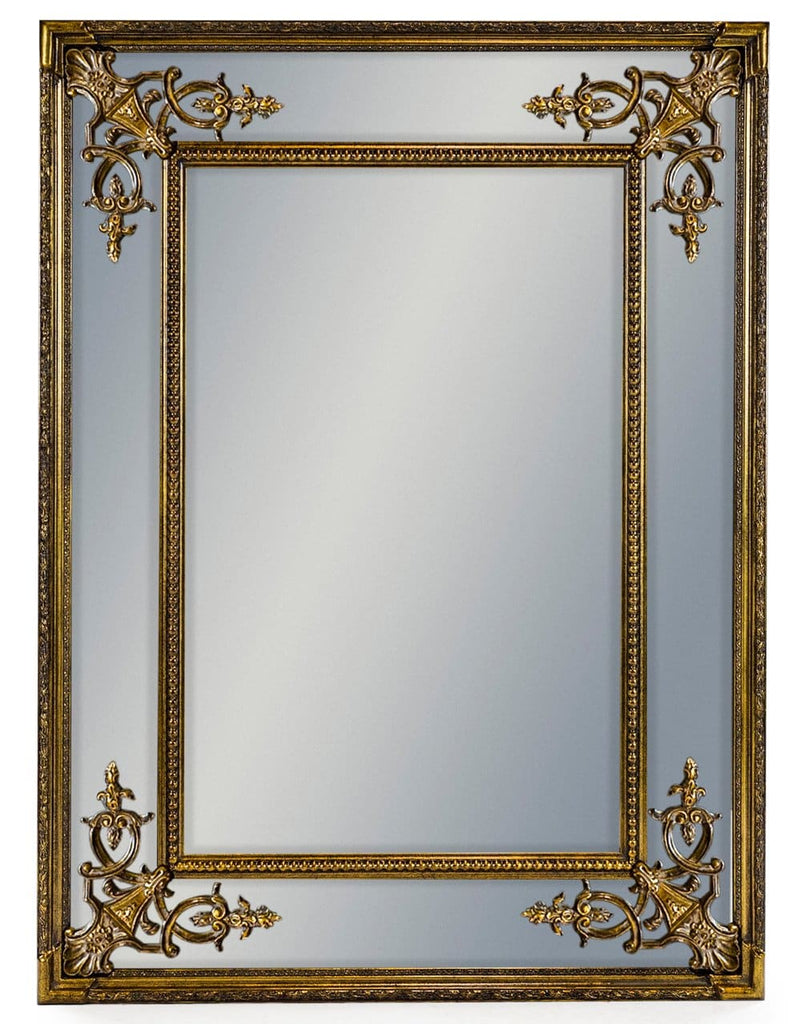 Gold Square French Mirror - Mirror