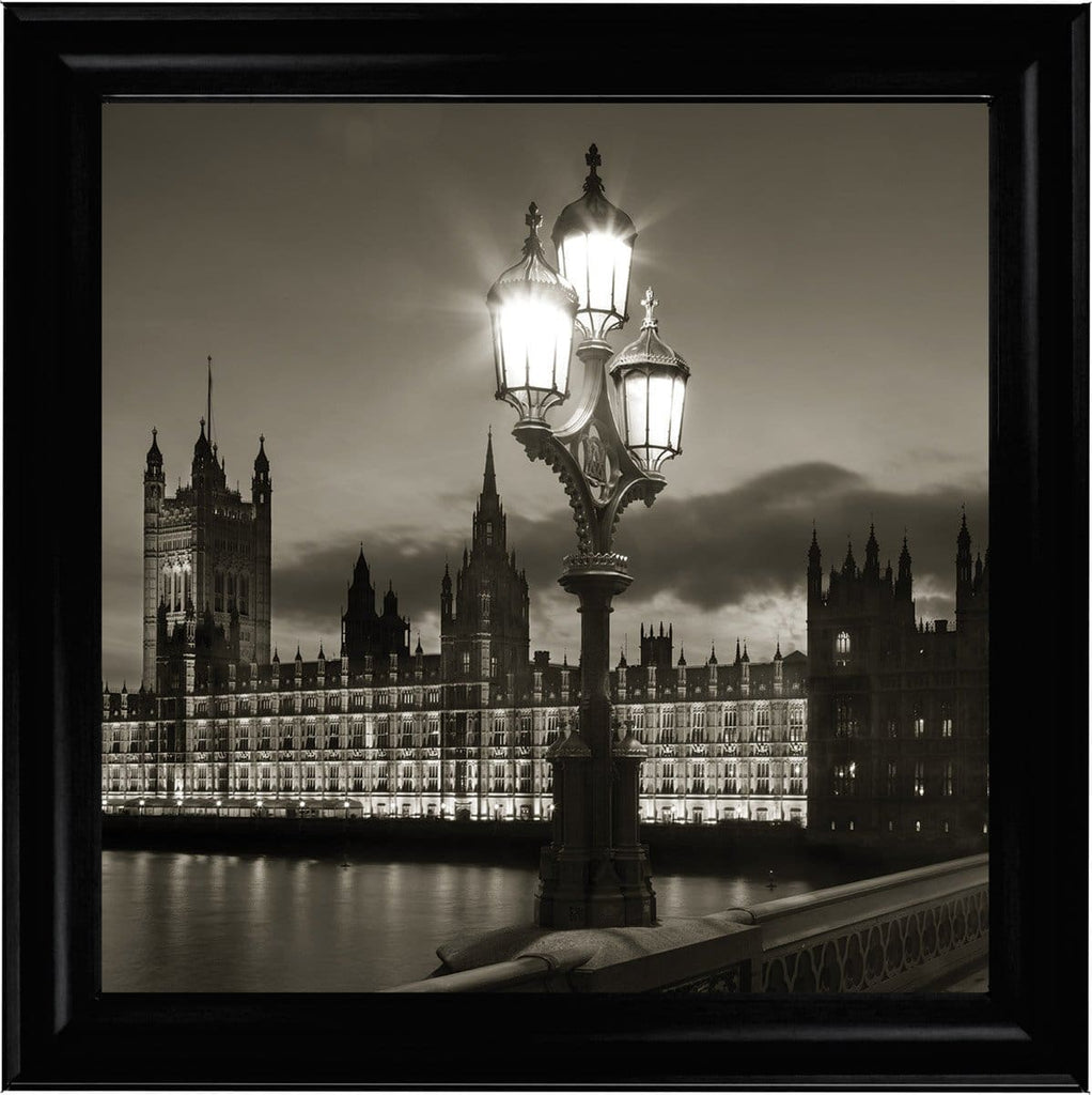 Houses of Parliament Westminster London Art Framed Graphic Print - Wall Art