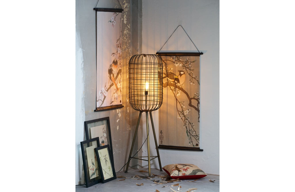 Hurricane Antique Brass Metal Floor Lamp by BePureHome - Floor Lamp
