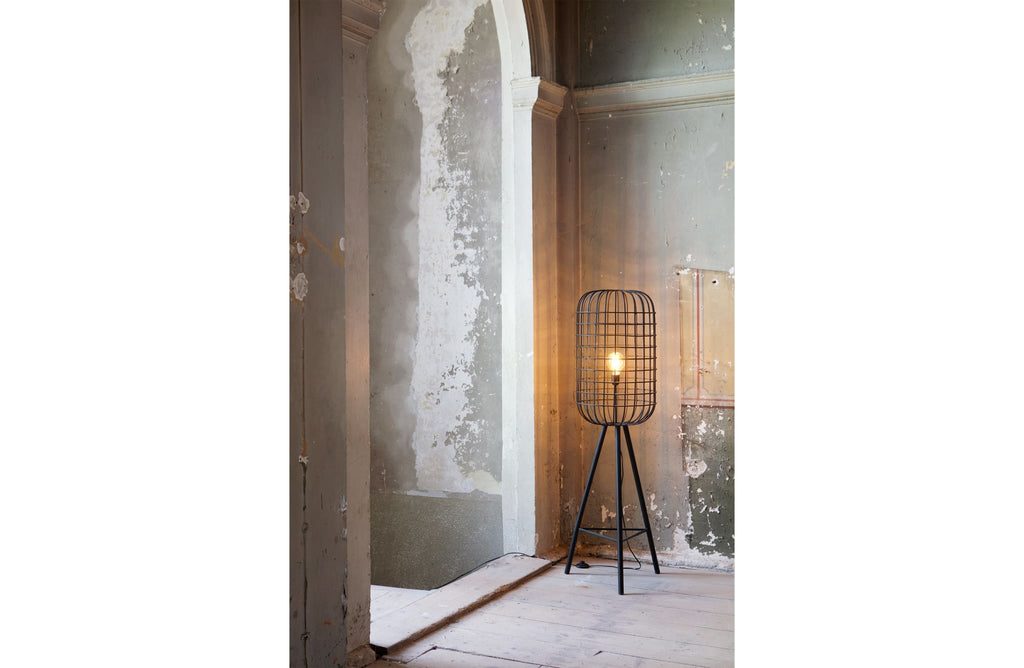 Hurricane Black Metal Floor Lamp by BePureHome - Floor Lamp