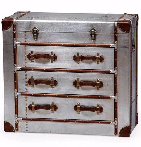 Industrial Silver Travel Chest of Drawers - Chest of Drawer