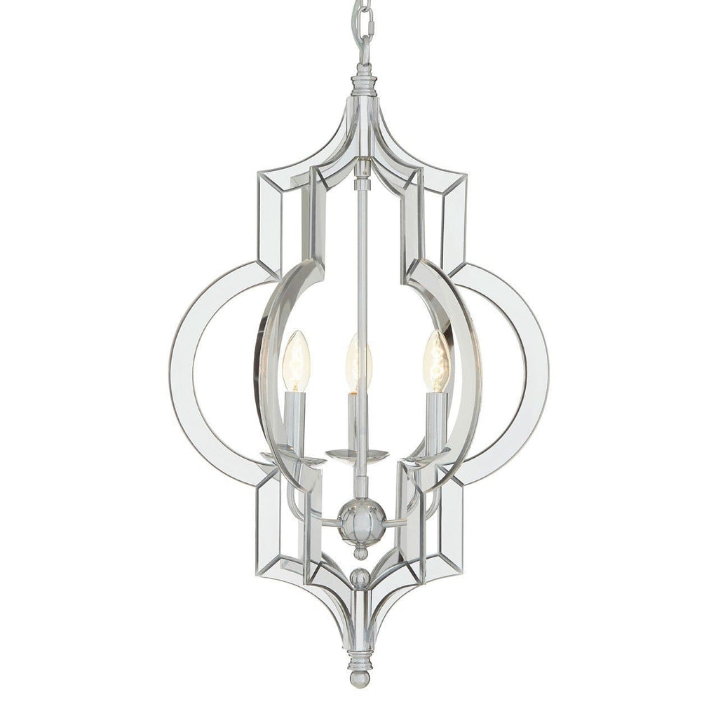 Kensington Chrome Glass Pendant Light - Pendant Light