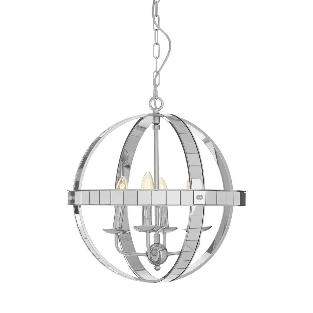 Kensington Gyroscope Chrome Glass Pendant Light - Pendant Light