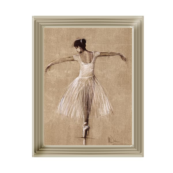 Lady Ballet Bouree 1 Art Framed Graphic Print - Wall Art