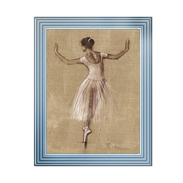 Lady Ballet Bouree 4 Art Framed Graphic Print - Wall Art