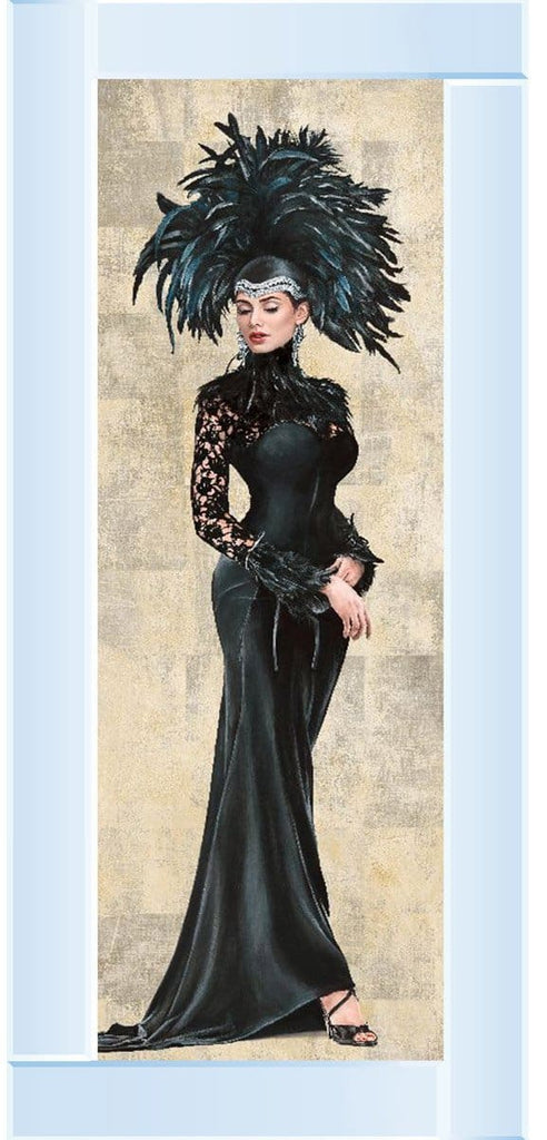 Lady Destiny Black Dress Art Framed Graphic Print - Wall Art