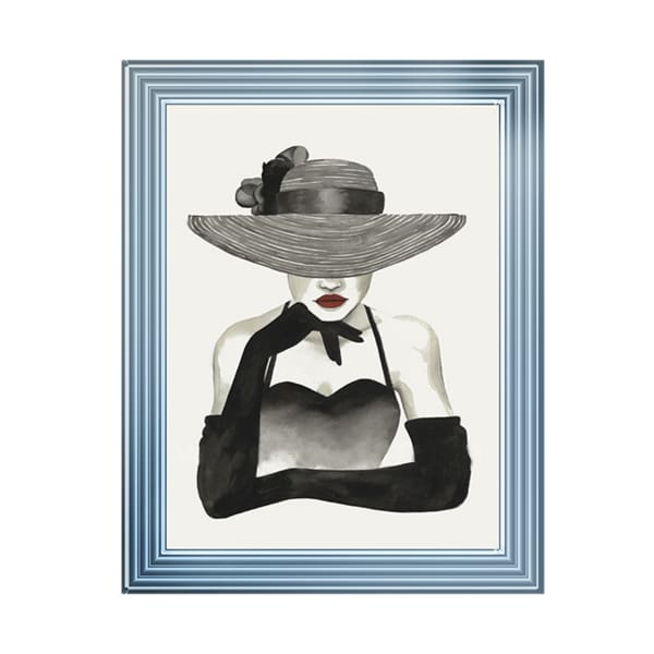 Lady In Vogue Art Framed Graphic Print - Wall Art