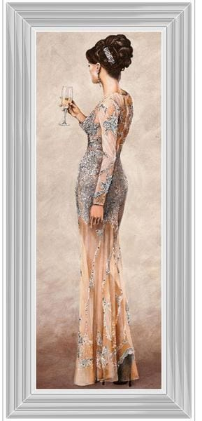 Lady Sophia Jewelled Gown Art Framed Graphic Print - Wall Art