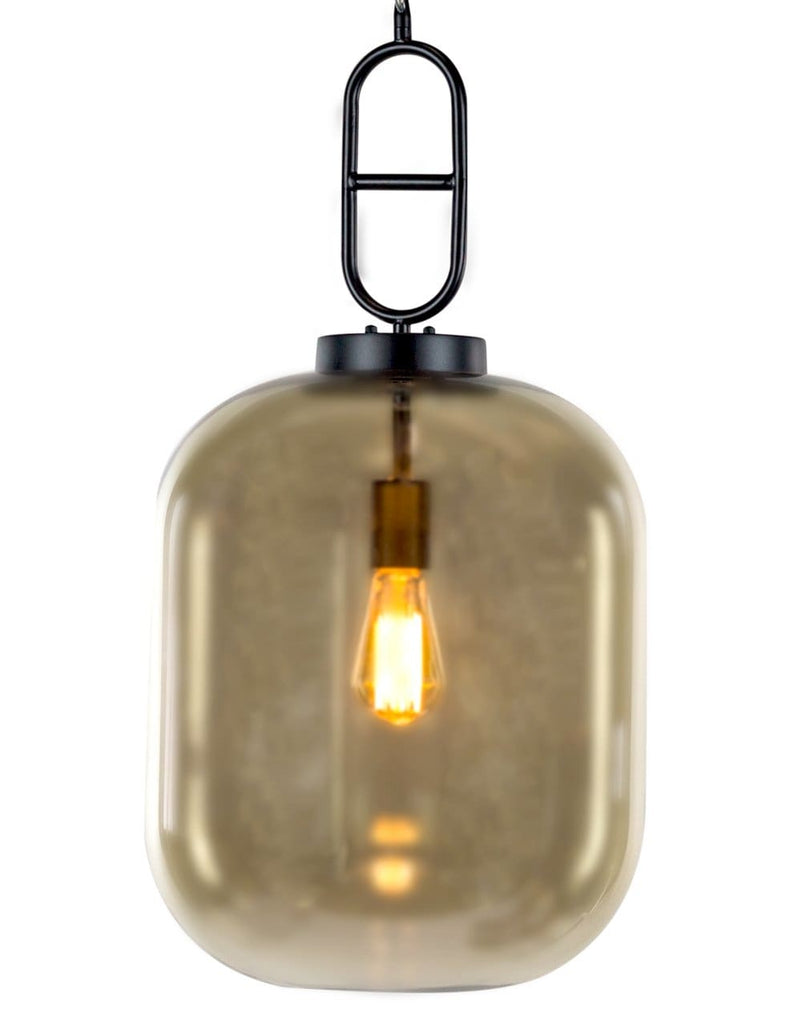 Large Gold Glass Edison Lamp Hanging Pendant - Pendant Light