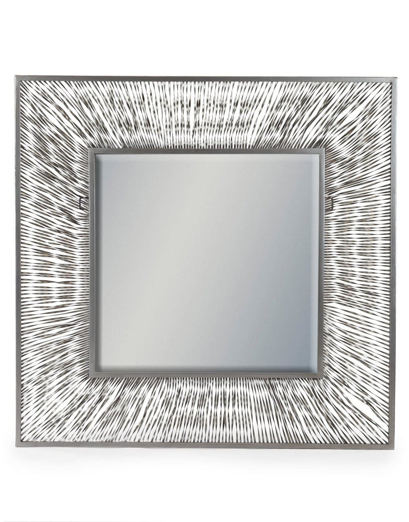 Large Square Metal Wave Wall Mirror - Mirror