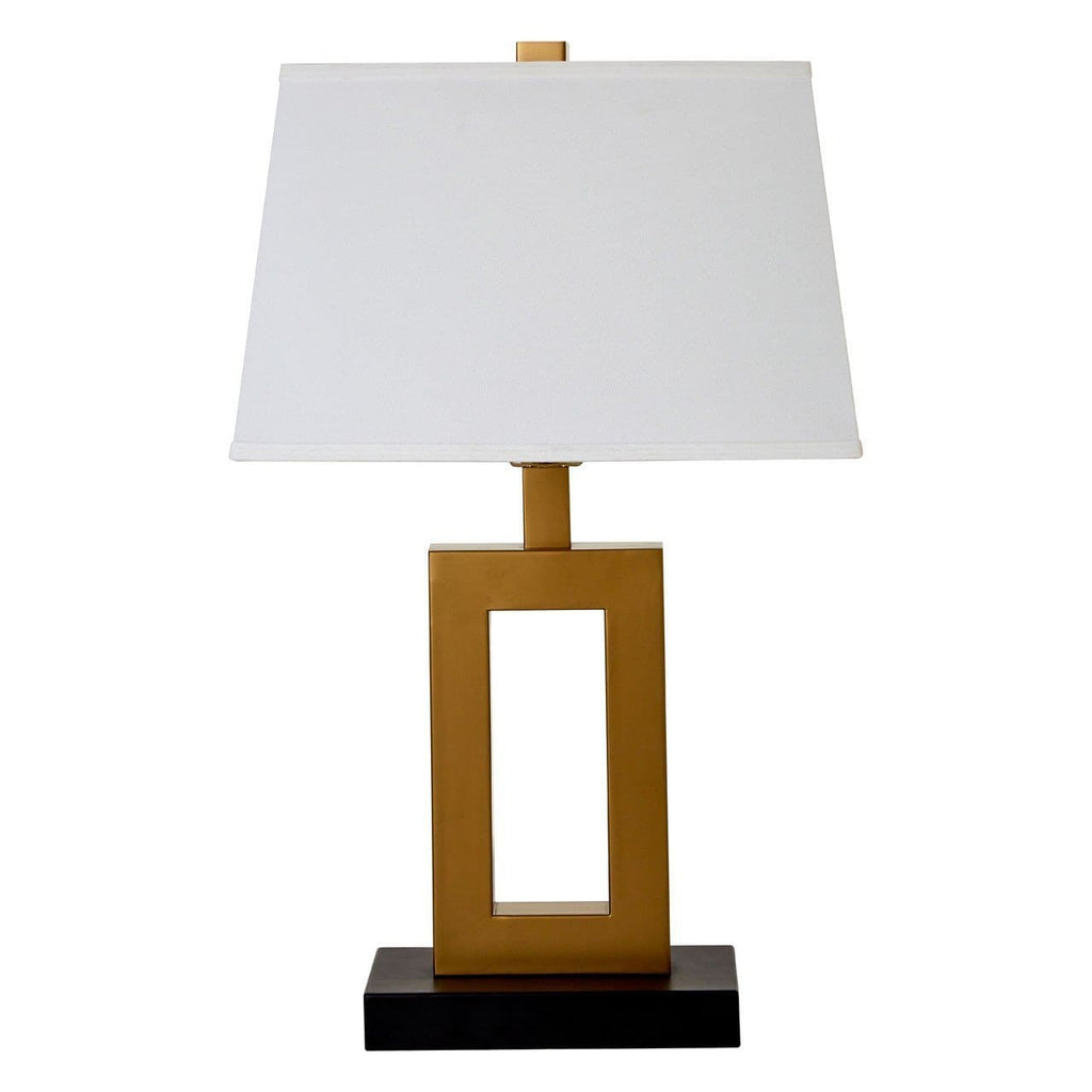 Leora White Shade Table Lamp - Table Lamp