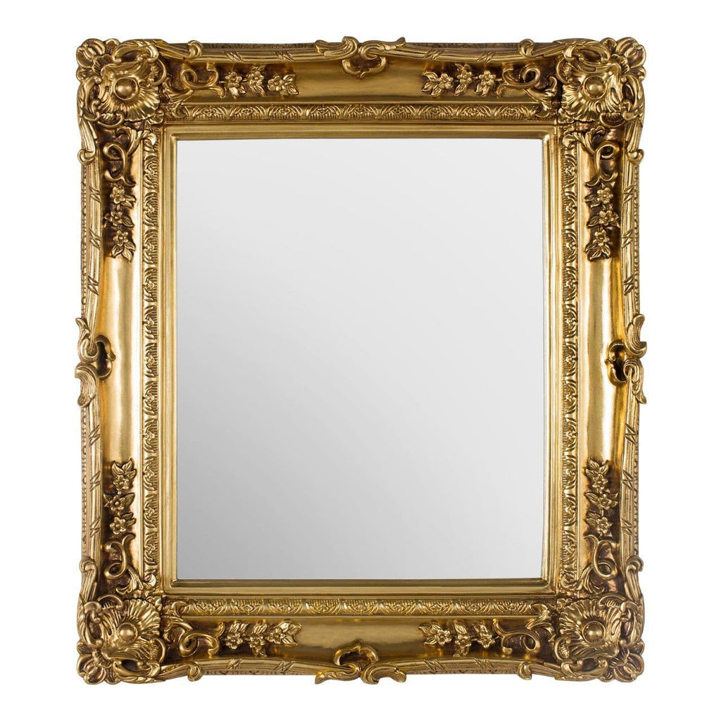 Macie Gold Neoclassical Wall Mirror - Mirror