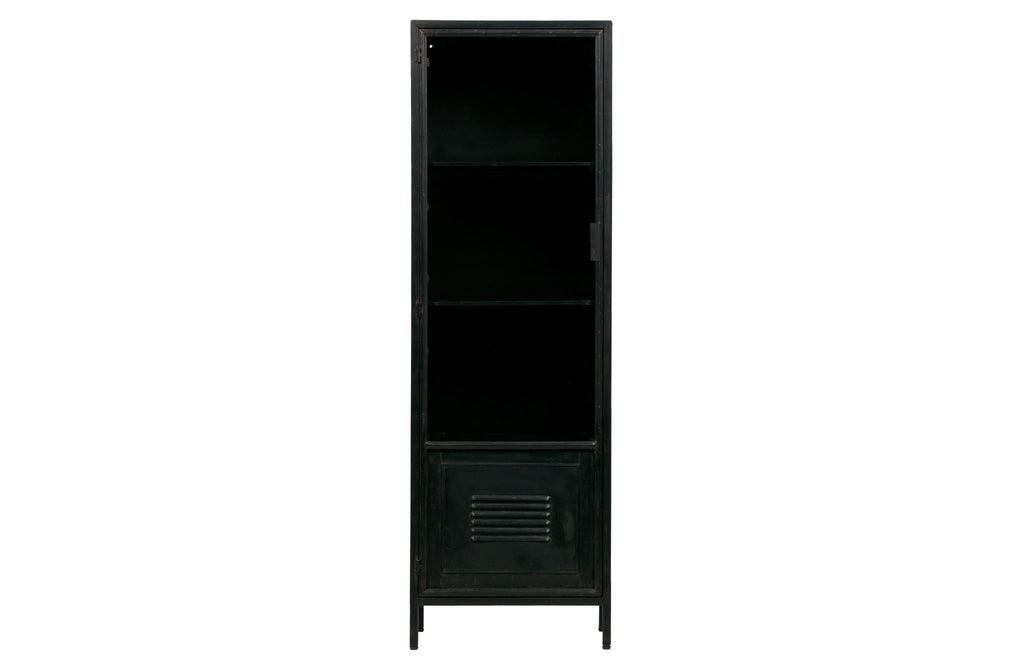 Maud Black Metal 1 Door Cabinet by Woood - Storage Cabinet
