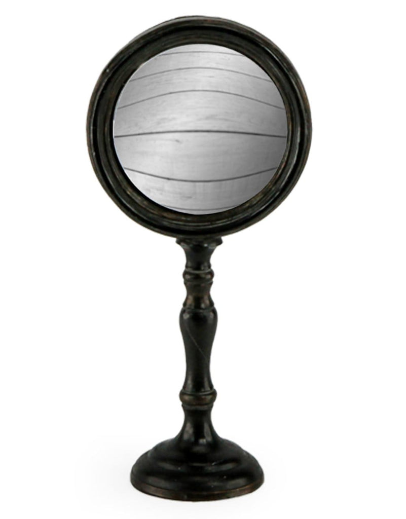 Medium Antique Black Convex Mirror on Stand - Mirror