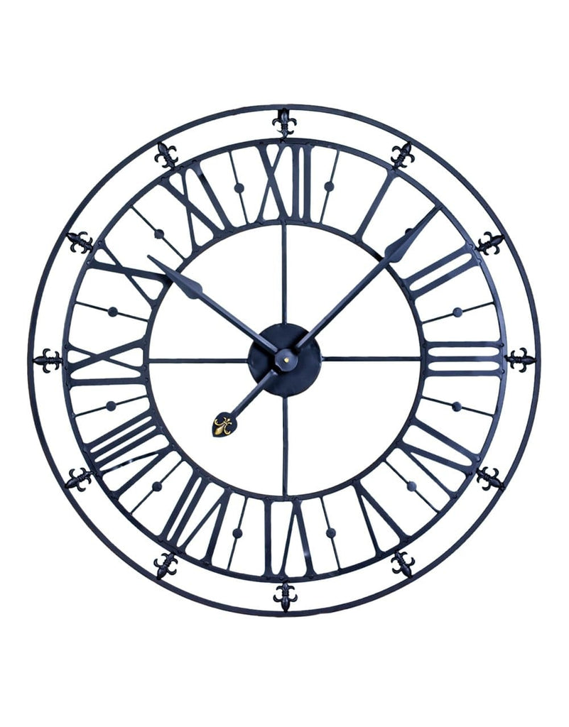 Medium Black Iron Skeleton Wall Clock - Clock
