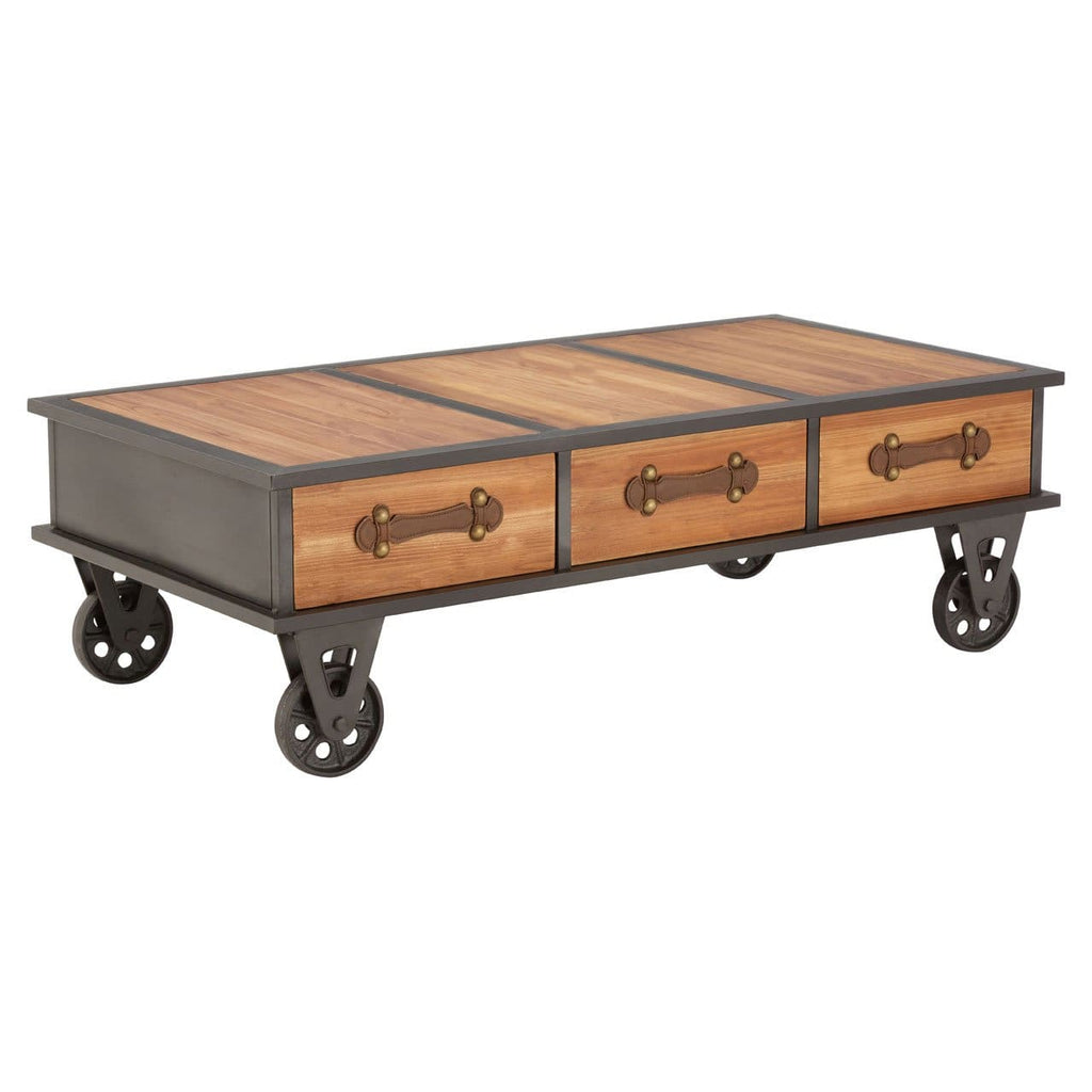 Newport Coffee Table on Wheels - Coffee Table