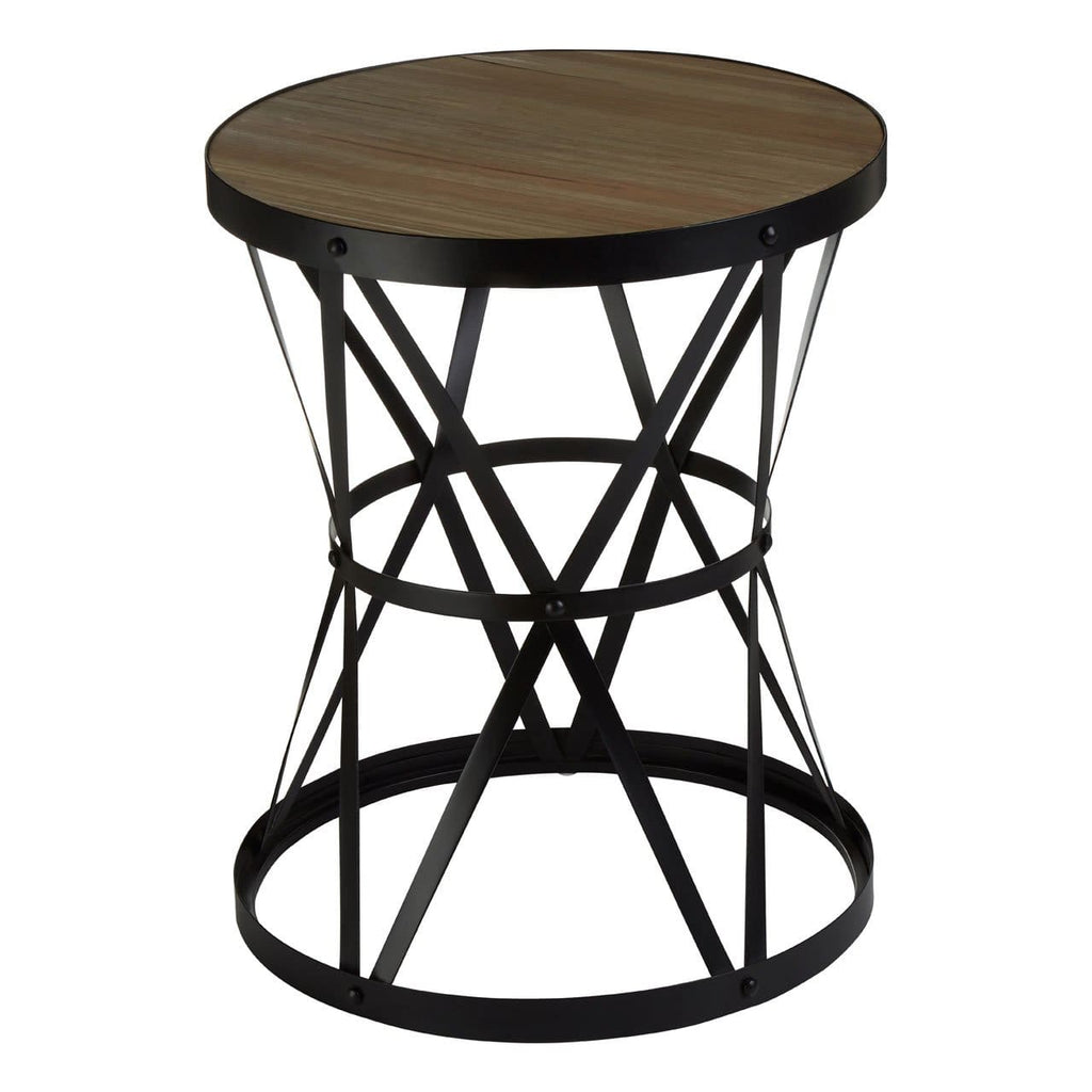 Newport Round Basket Side Table - Side Table