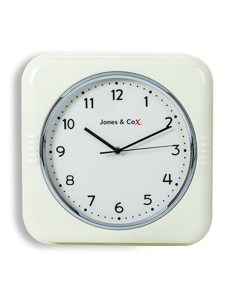 Retro Cream Diner Wall Clock - Clock