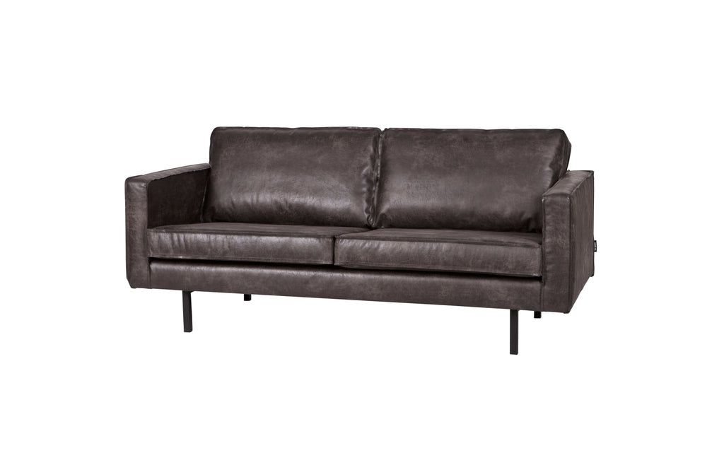 Rodeo Black 2 Seater Leather Sofa By BePureHome - Sofa
