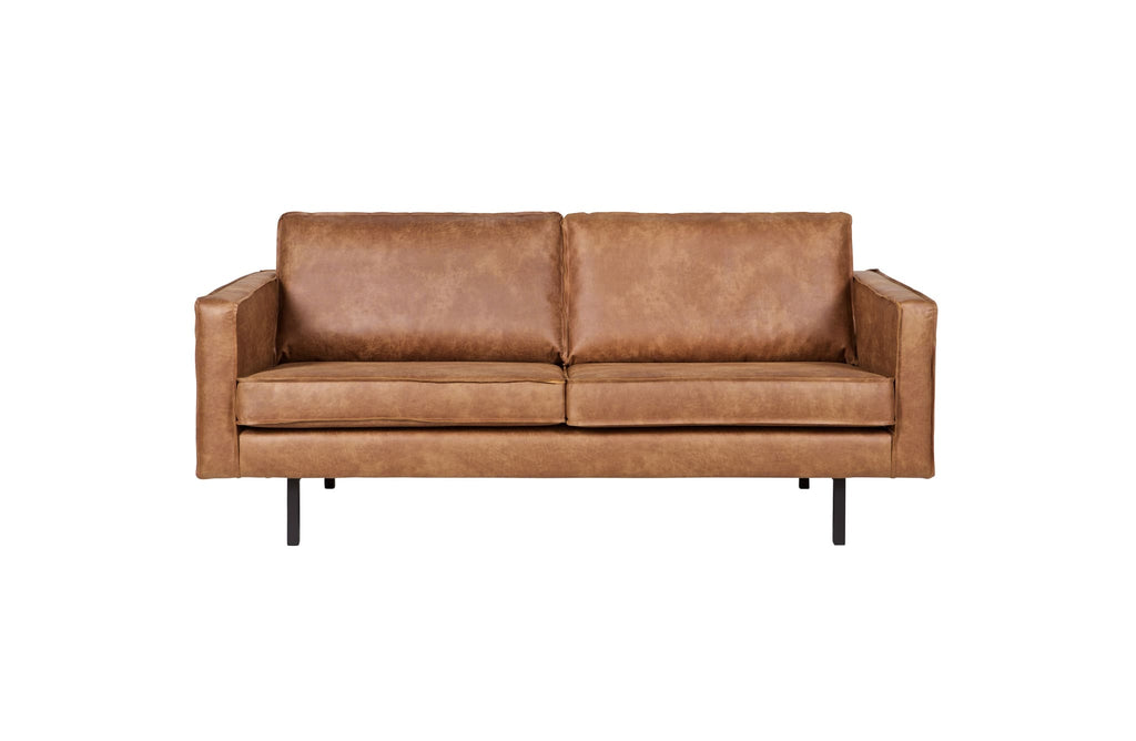 Rodeo Cognac 2 Seater Leather Sofa By BePureHome - Sofa