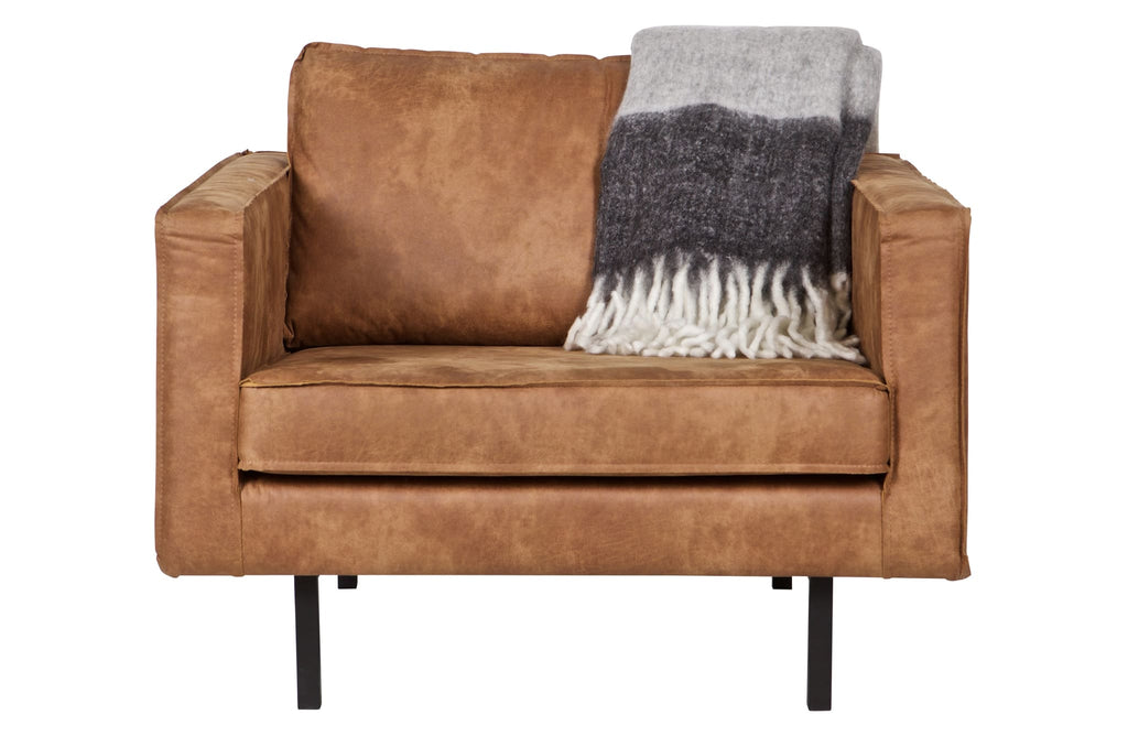 Rodeo Cognac Leather Armchair By BePureHome - Sofa