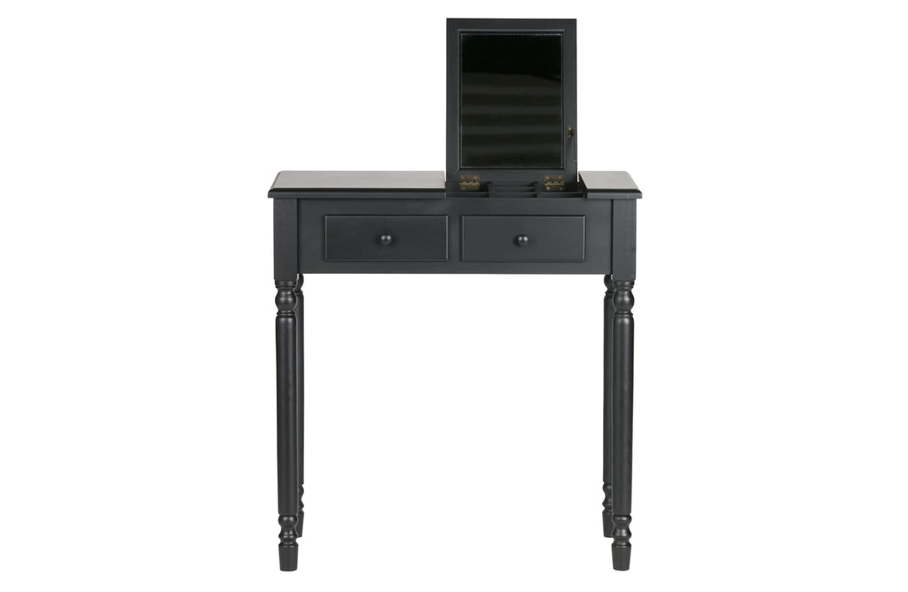 Romy Black Wood Hall Dressing Table by Woood - Dressing Table