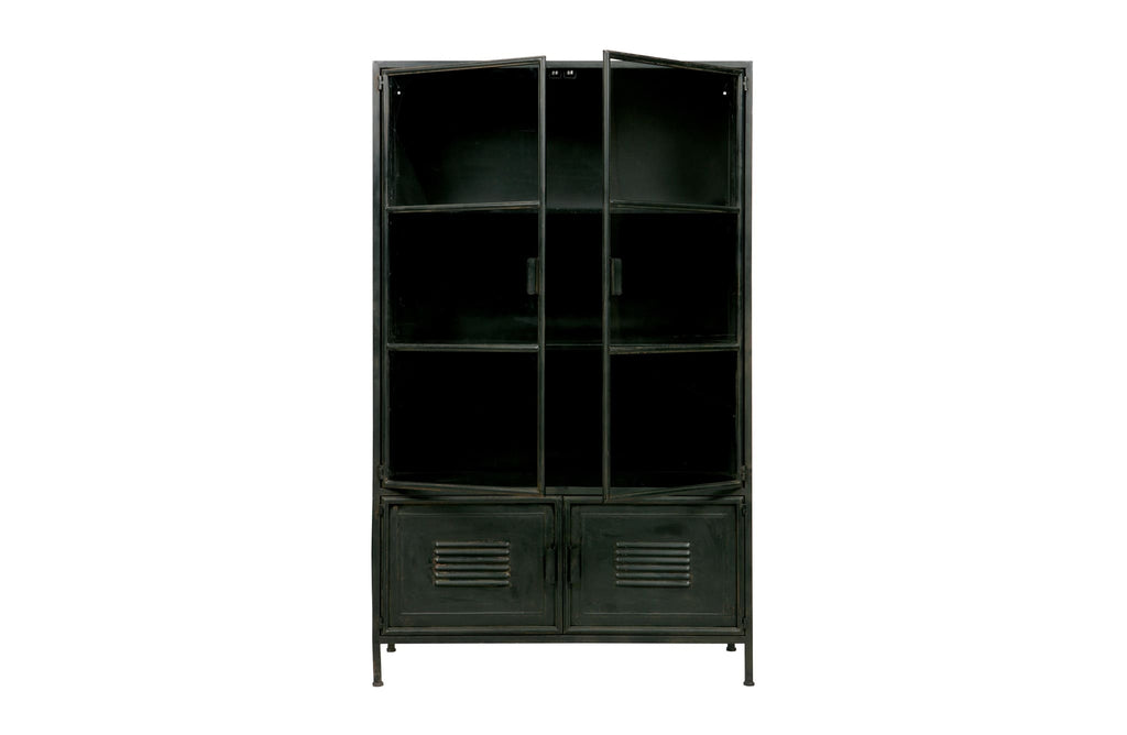 Ronja Black Metal Cabinet by Woood - Storage Cabinet