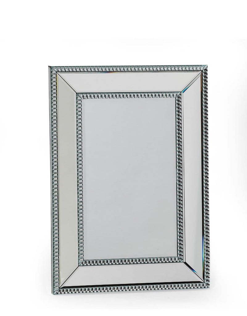 Small Venetian Pearled Style Edge Mayfair Glass Wall Mirror - Mirror