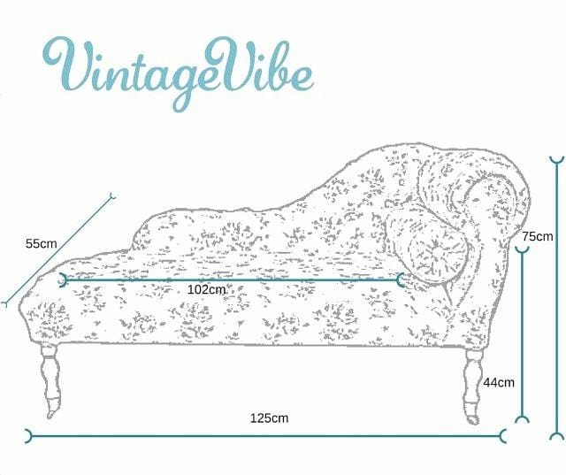 Style Beige Floral Chaise Longue - Made to Order - Chaise Longue