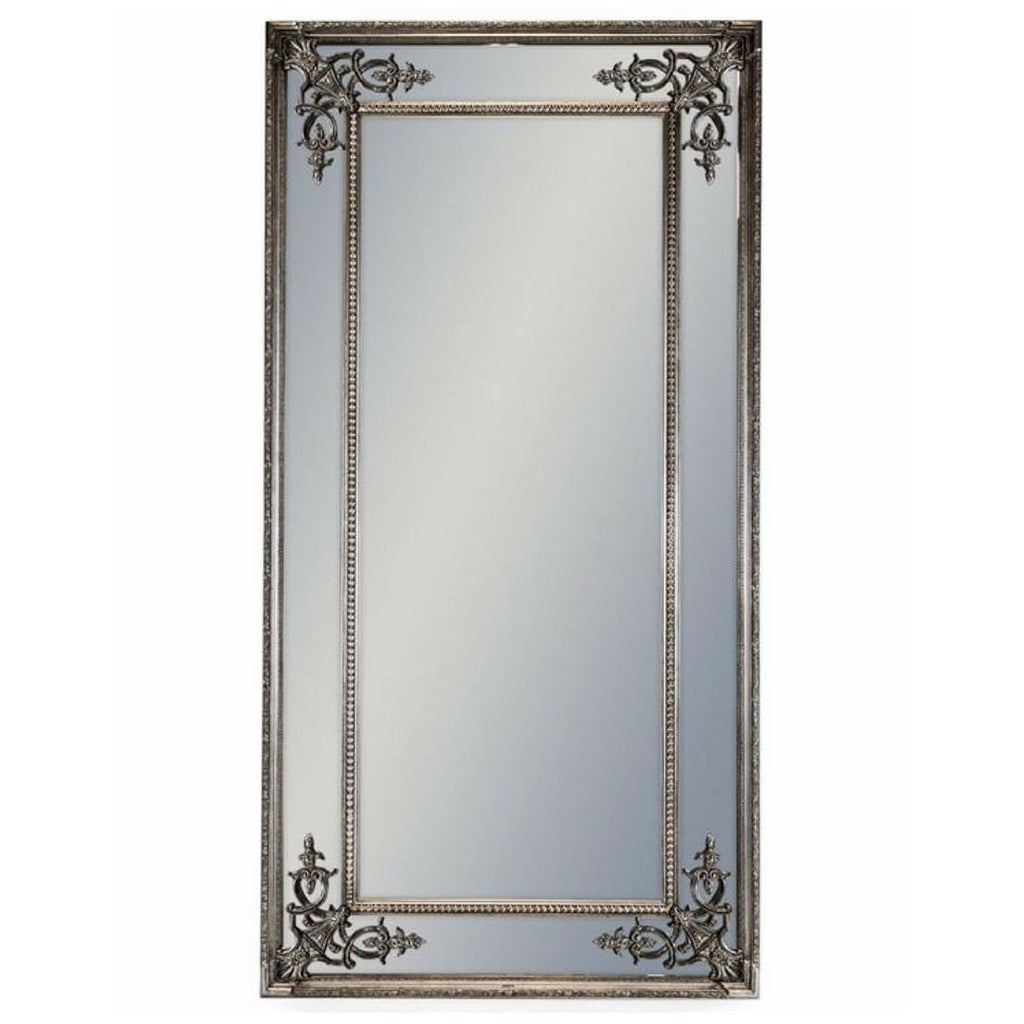 Tall Ornate Bronzed Silver Mirror - Mirror