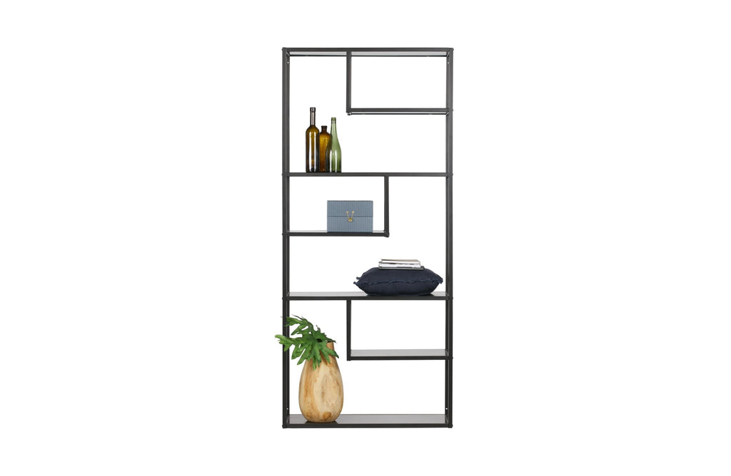 Teun Black Metal Cabinet by Woood - Bookcase Shelf