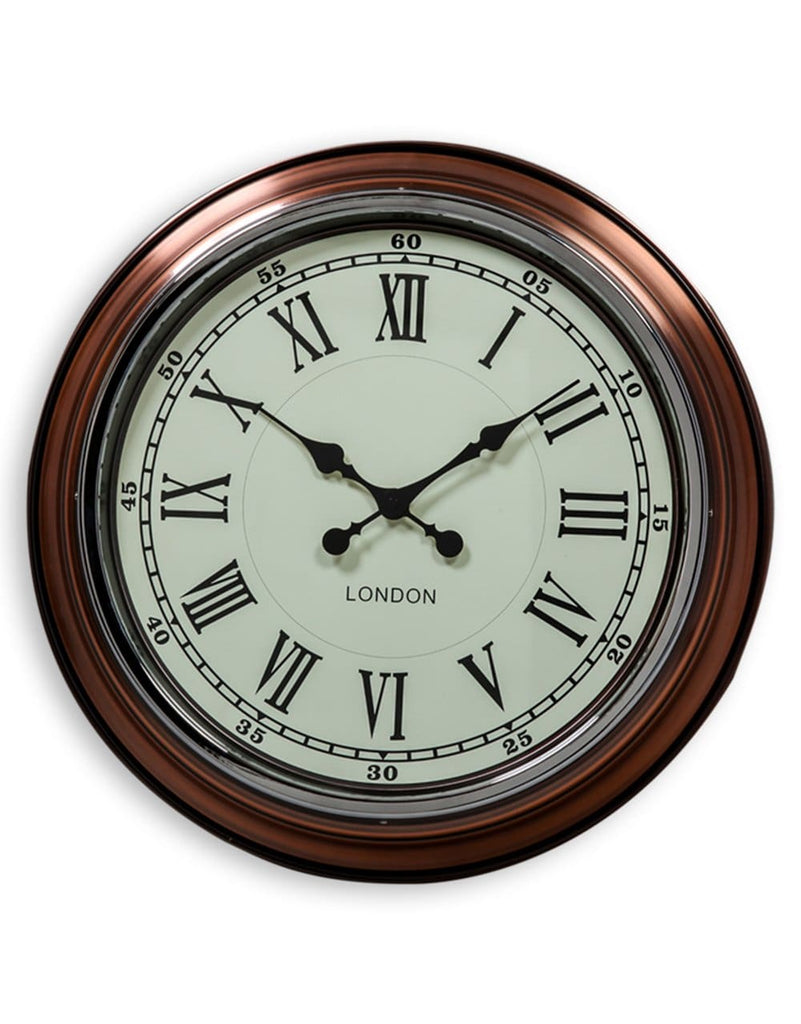 Vintage Copper White Face London Modern Wall Clock - Clock