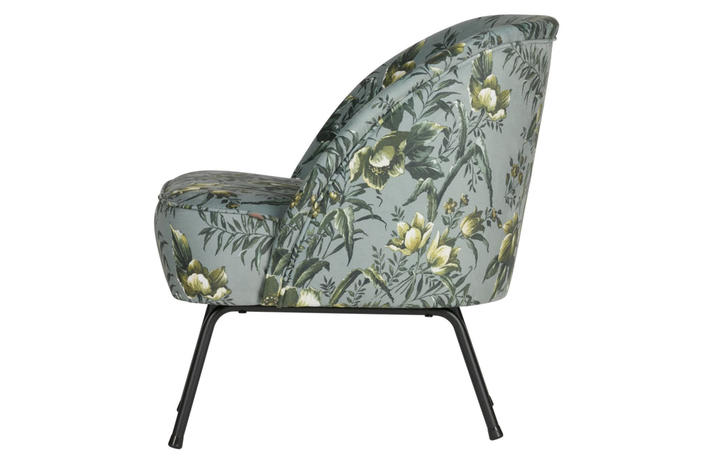 Vogue Grey Poppy Velvet Armchair By BePureHome - Armchair