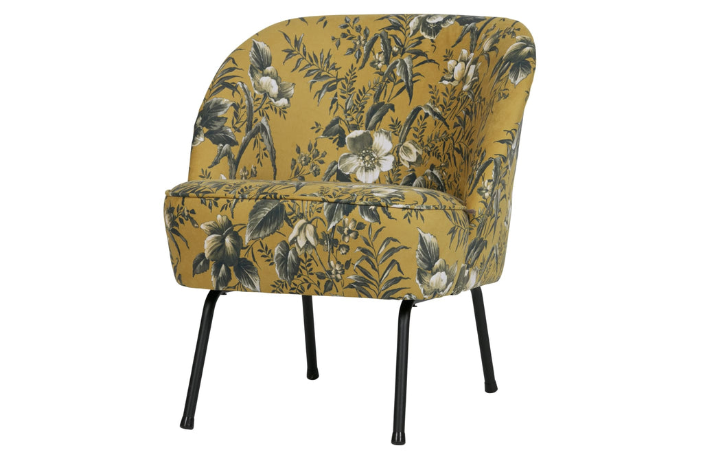 Vogue Mustard Poppy Velvet Armchair By BePureHome - Armchair