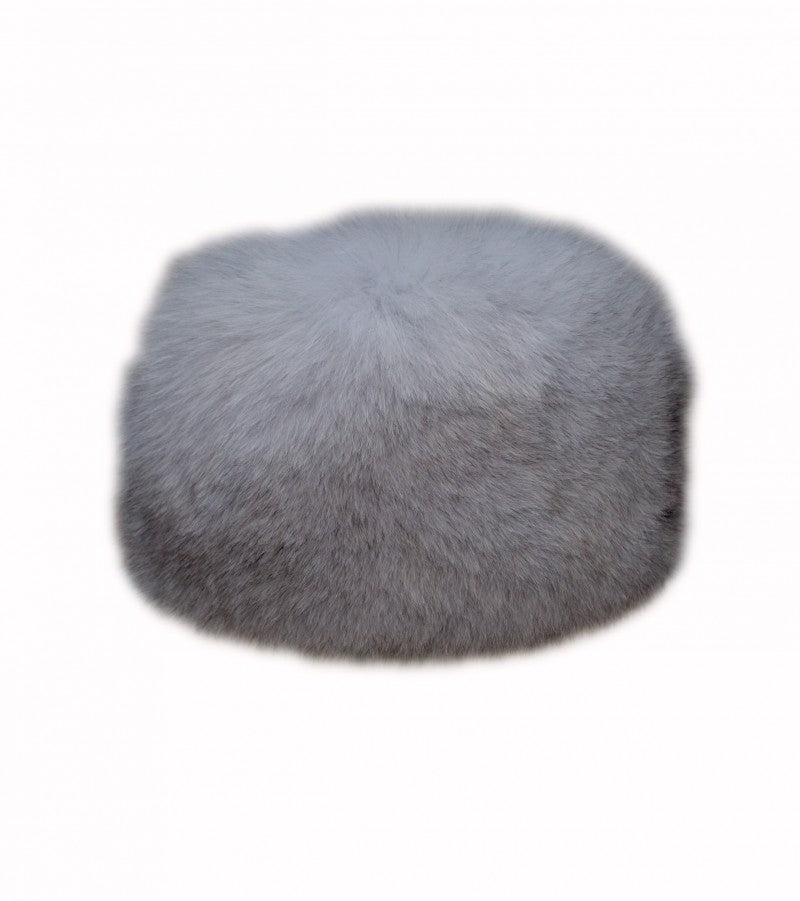 Arctic Grey Fox Fur Russian Hat